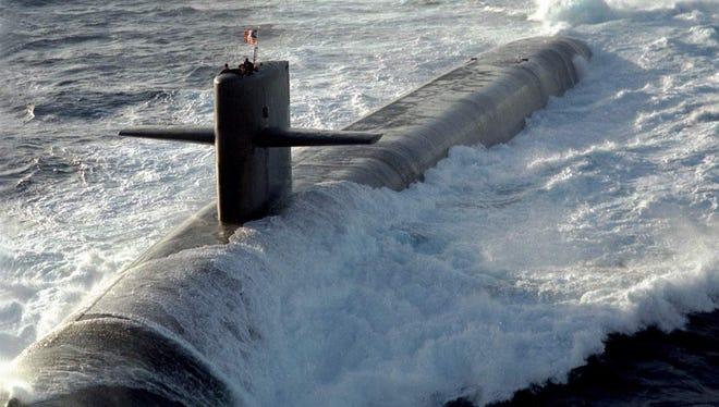 "The USS Louisiana is one of the Navy's ""boomer"" class submarines"