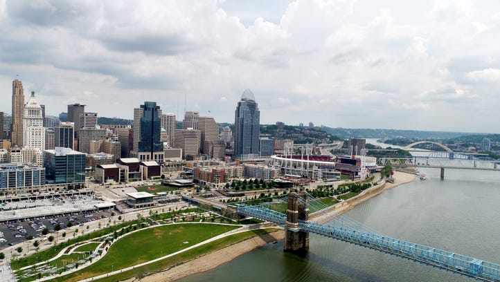 The Banks and Smale Riverfront Park along the Ohio