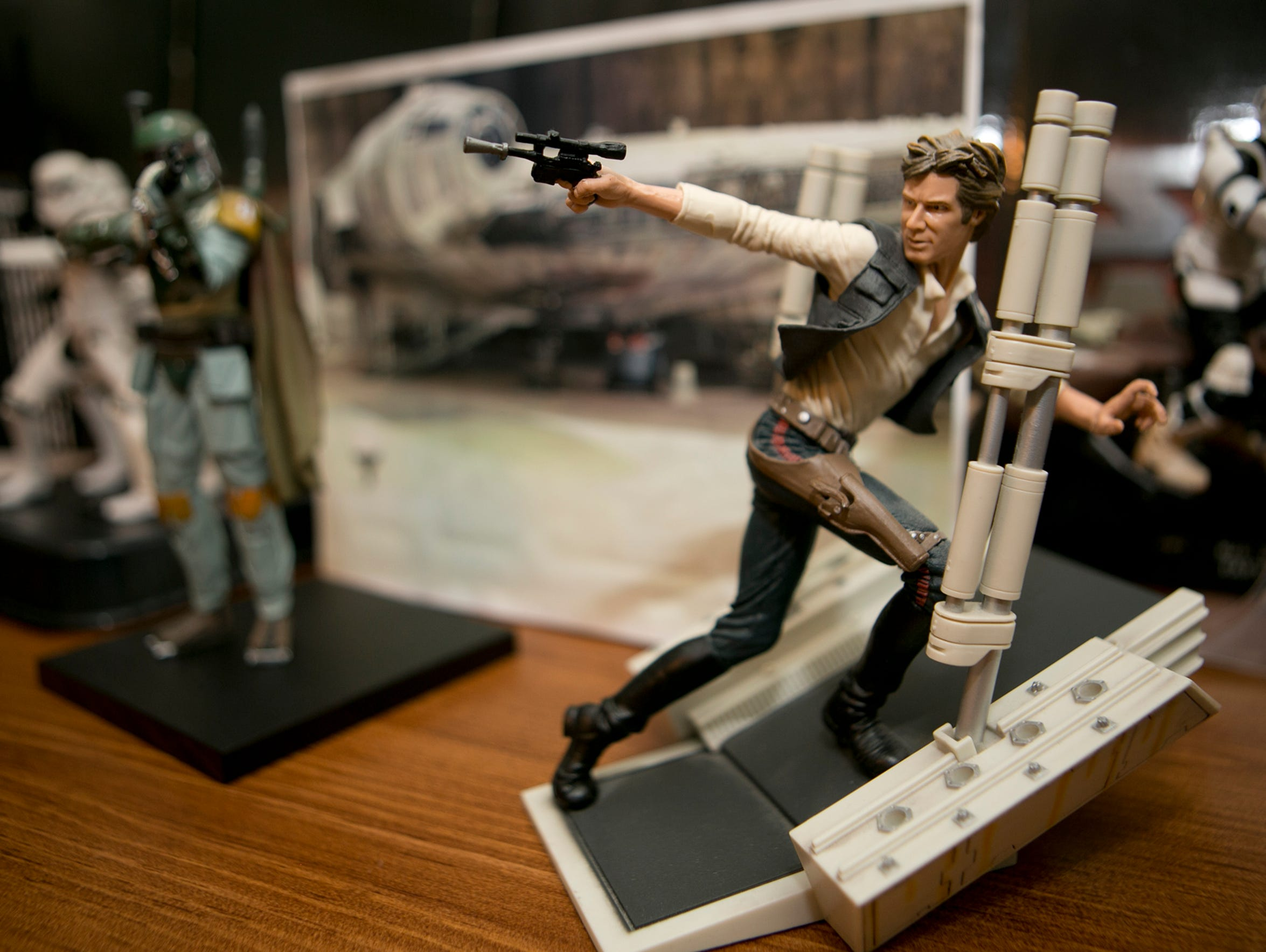 A Han Solo figurine at Frank Wileman's home in Custer,