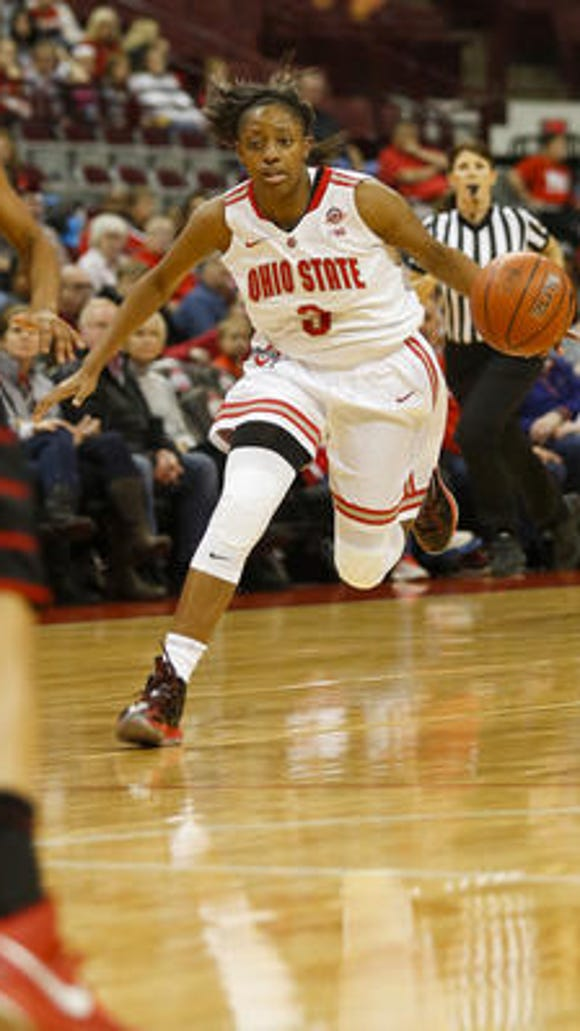 Ohio State's Kelsey Mitchell made a school-record nine