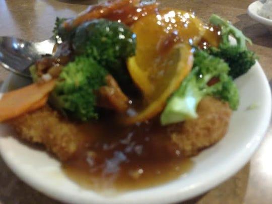 Orange Shrimp at Fawn's Asian Cuisine.