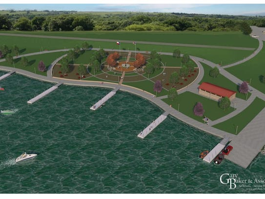 An artistic rendering of proposed boat ramp addition