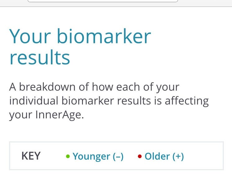 InnerAge helps consumers improve their health by monitoring biometric markers.