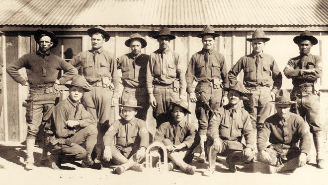Soldiers of the 13th Cavalry stationed at Camp Columbus.