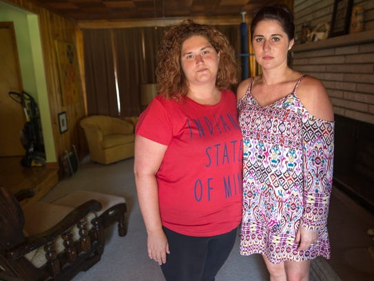 Rachel Baum (left), and Katelyn Ross, were close to