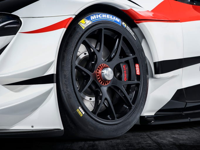 The Toyota GR Supra Racing concept vehicle.