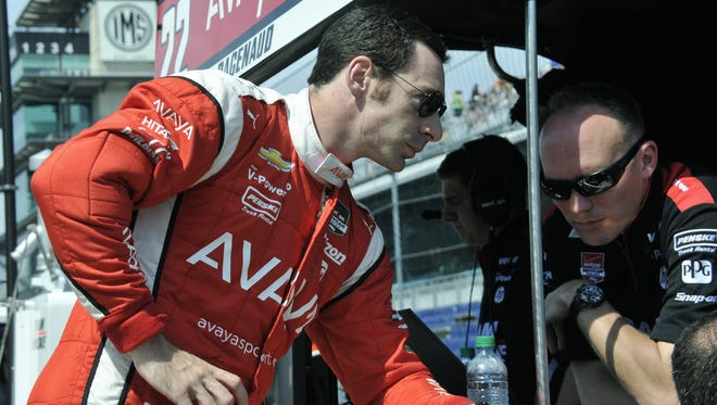 Simon Pagenaud won his first IndyCar pole for Team Penske (his second overall in the series)