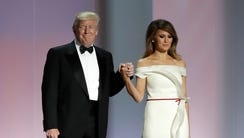 President Trump and first lady Melania Trump at the