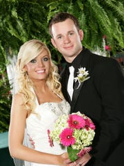 Rachel and Clint Parker on their wedding day.