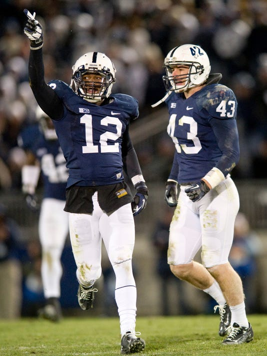Former Penn State cornerback Stephon Morris (12) trained with new defensive back Jordan Smith back home near Washington, D.C.