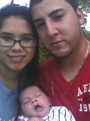 Alex Lopez, seen with his wife Iveth Yaneth Garcia-Menchaca and son Isaac.