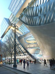 Rendering of the proposed building on the Hudson's