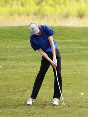 Ryggs Johnston of Libby set a record at the State Am in Butte Friday with a round total of 62.