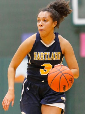 Hartland's Graysen Cockerham will play in the state basketball quarterfinals for the second time in her four-year career Tuesday.