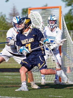 Reece Potter made first-team all-state for the second time after leading Hartland into its second straight state lacrosse semifinal.