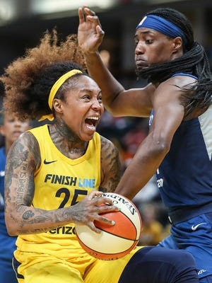 Fever guard Cappie Pondexter, pictured in an earlier game, had a strong second quarter for the Fever, playing all 10 minutes and scoring seven points.