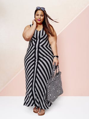 Maxi dress from AVA & VIV, $34.99 at Target. Modeled by fashion blogger Chastity Garner.