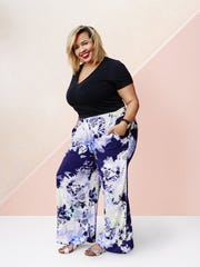 From Target's new AVA & VIV collection: T-shirt, $10; palazzo pants, $29.99. Modeled by fashion blogger, Gabi Gregg.