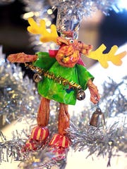 From the Frank Espich collection: Kris Moose holiday ornament.