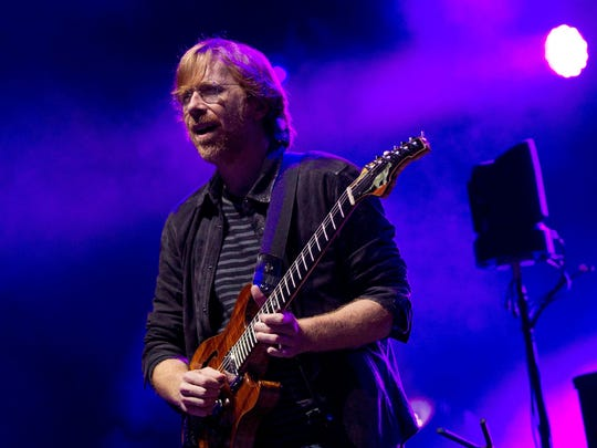 Trey Anastasio of Phish performs during the Bonnaroo