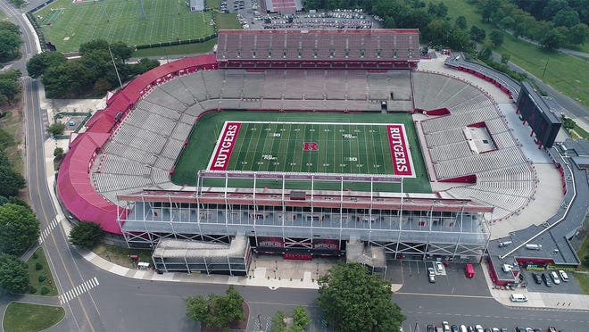 Drone view of Rutgers Stadium in Piscataway on Wednesday, July 31, 2019.  Rutgers announced that it reached a deal with SHI International Corp., a global IT provider, for naming rights to the facility.