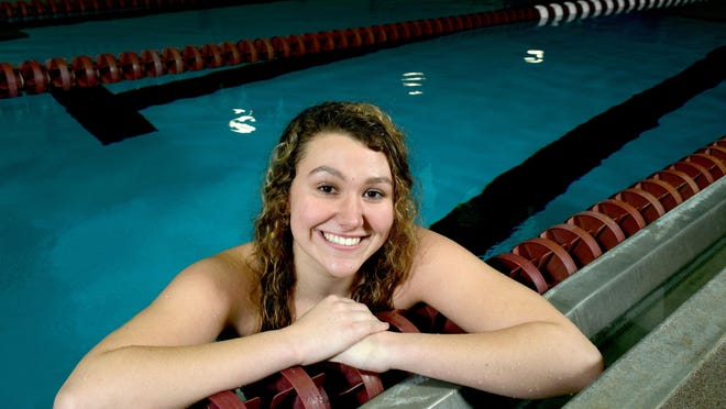 Dunlap senior Taylor Weaver, the 2019 Journal Star Swimming and Diving Athlete of the Year, returns to the pool Saturday at the Rock Island Sectional. Weaver has missed most of the competetive season after having back surgery.