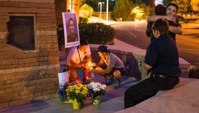 """""""He made a huge impact,"""" Steve Jimenez said of Mesa police Officer Brandon Mendoza . """"He was the epitome of closing the gap between the community and police."""""""
