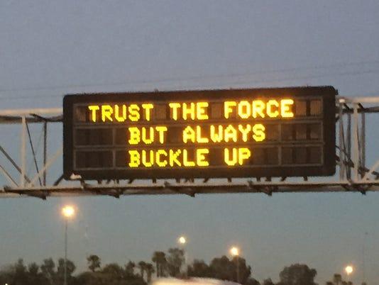 Star Wars ADOT sign