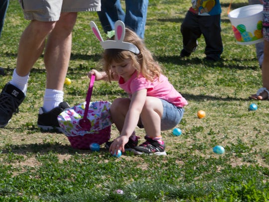 Easter egg fun at the annual Springfest held at Young