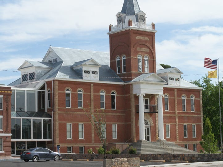 The historic Luna County Courthouse stands as a symbol