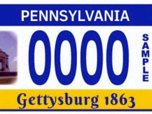 A license plate featuring the Pennsylvania Monument is now available from the state's Department of Transportation. A portion of the proceeds from the plate's sale will go toward monument maintenance at Gettysburg National Military Park.