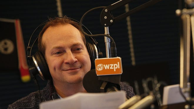"""Dave Smiley on Jan. 27, 2016, hosts the """"Smiley Morning Show"""" on WZPL-FM (99.5)."""