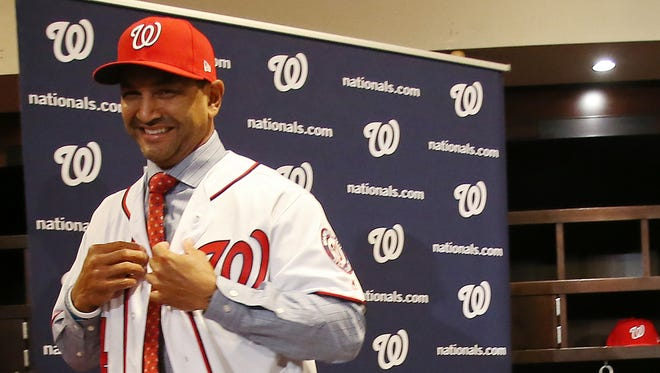 Dave Martinez was named manager of the Nationals in November.