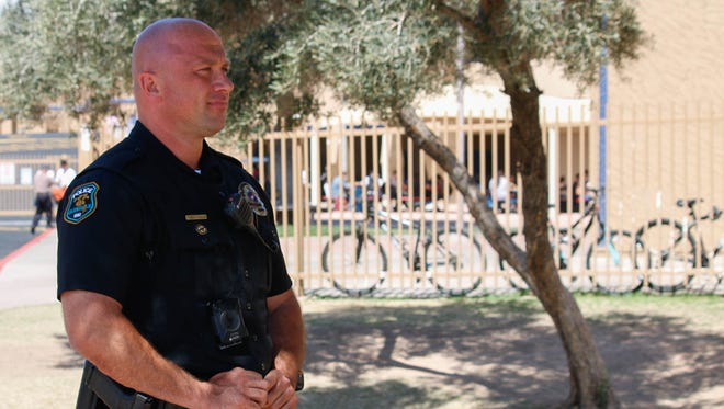 Glendale police officer Nicholas Lively says his goal as a School Resource Officer is to make students feel comfortable around police.