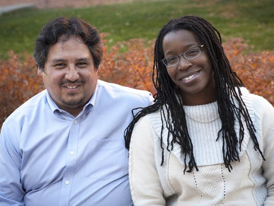 Tiya Miles, right, and her husband, Joseph Gone, in Bozeman, Mont., last fall where she's living during a year away from the University of Michigan.