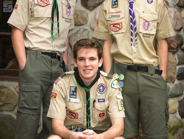 Trevor Kelterborn, Dominic Duhn and Paul Boran of Troop