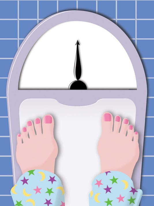 Bathroom scale illustration