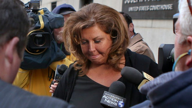 Abby Lee Miller, former star of 'Dance Moms,' after her bankruptcy fraud sentencing hearing in Pittsburgh on May 8, 2017.