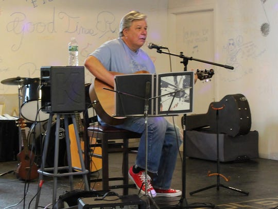 D.J. Haslett plays at the mART during the Third Thursday