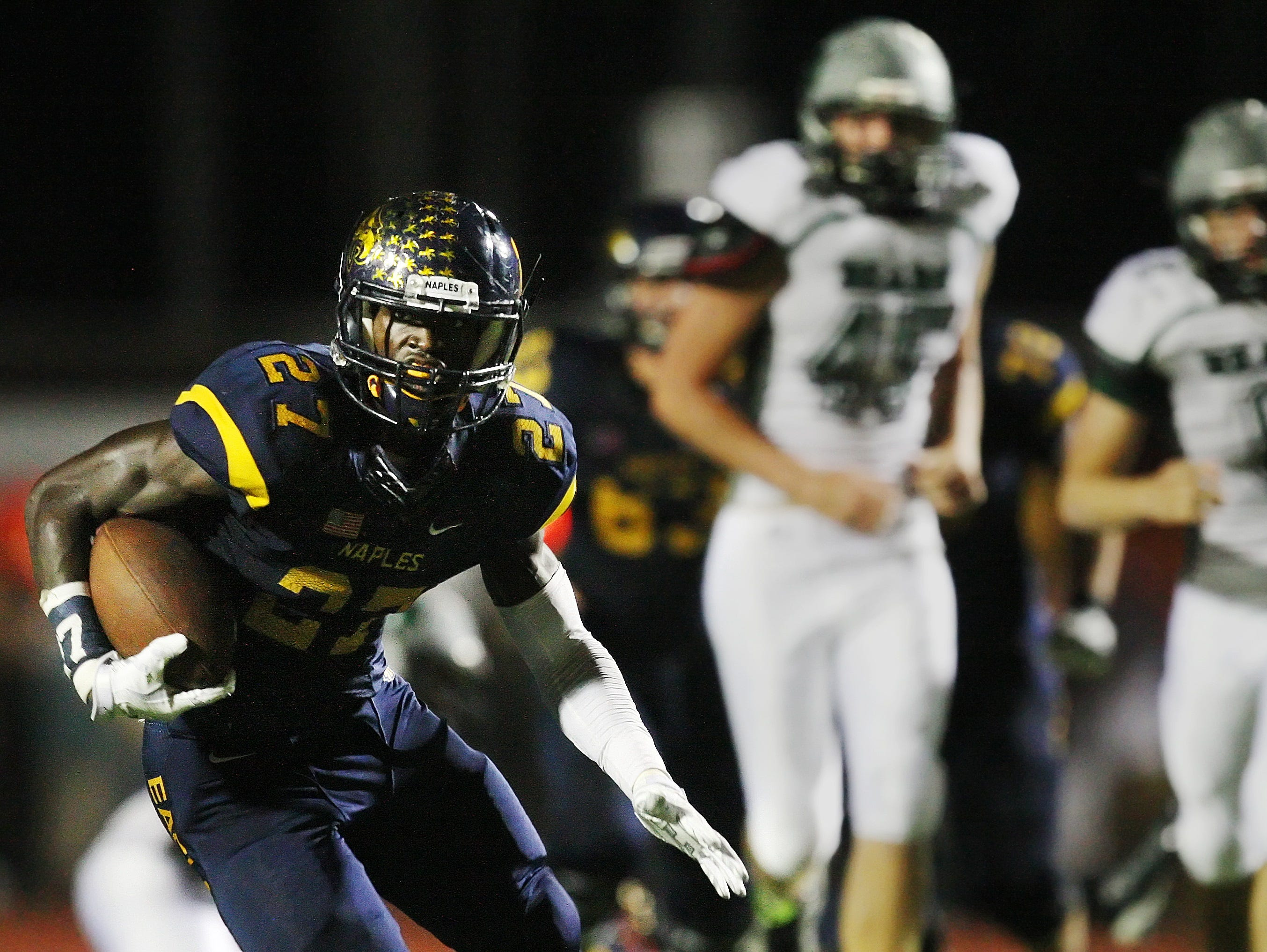 Naples High School's Carlin Fils-Aime has been named the FACA District 18 Player of the Year.