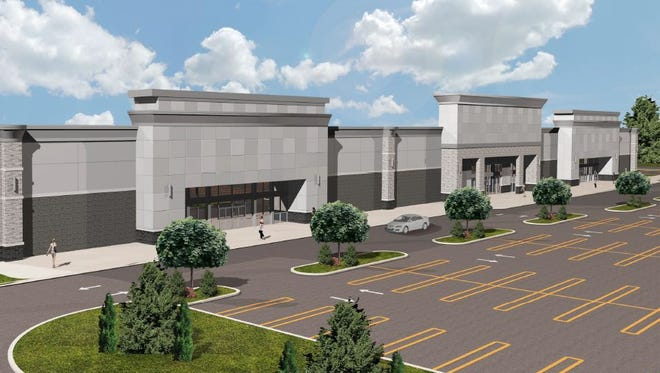 A rendering of what the proposed work at the Livonia Plaza along Plymouth Road could look like once finished.
