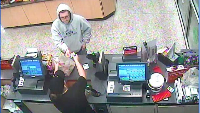 Police are trying to identify the man pictured in relation to multiple burglaries in Kent County.