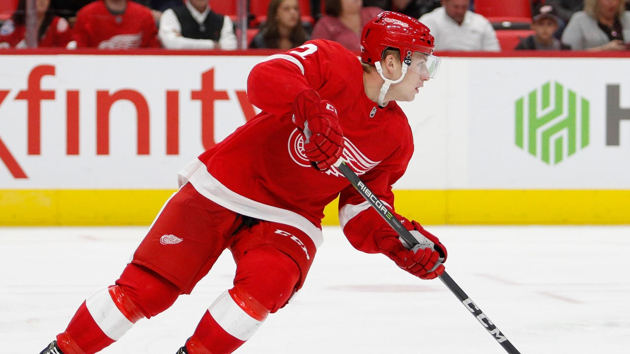 Red Wings prospect Joe Hicketts explains how how he has been successful to this point and his mentality, before his NHL debut Monday, Jan. 22 at Prudential Center in N.J.