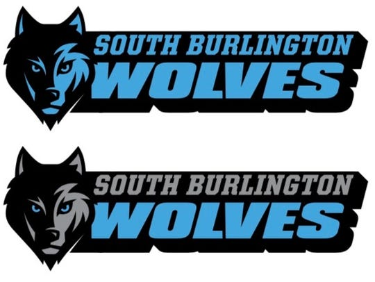 The new South Burlington High School Wolves logo was