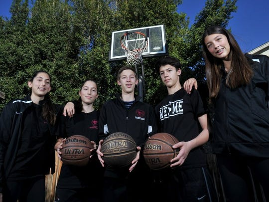 The Bova quintuplets — Emiline (from left), Abby, Nate, Sam and Katie — have been stars at Foothill Tech and one of the most well-known siblings teammates in the county.