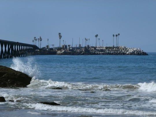 Rincon Island is off the Ventura County coast north