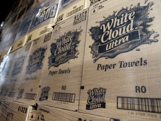 Memphis' Kruger Products produces White Cloud paper products for Walmart.