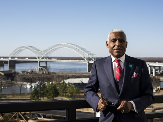 December 18, 2015 - Mayor A C Wharton poses for a portrait outside of his office on the 7th floor of city hall. Wharton's last day in office is December 31, 2015 when Jim Strickland will take over the position.   (Brad Vest/The Commercial Appeal)