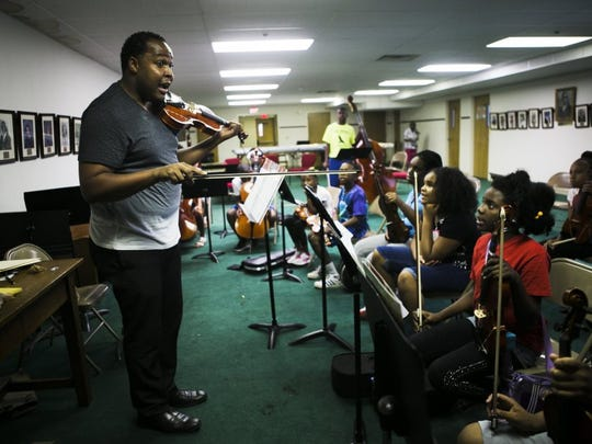 June 28, 2016 Christopher Waters was an instructor at the Harmonic South String Orchestra at Metropolitan Baptist Church in South Memphis. He was killed in December 2016. (Yalonda M. James/The Commercial Appeal)