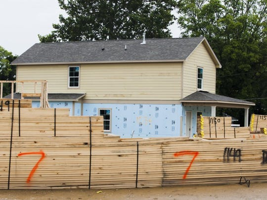 A home in 1000th block of N. 3rd St. was built by Habitat for Humanity in 2016.